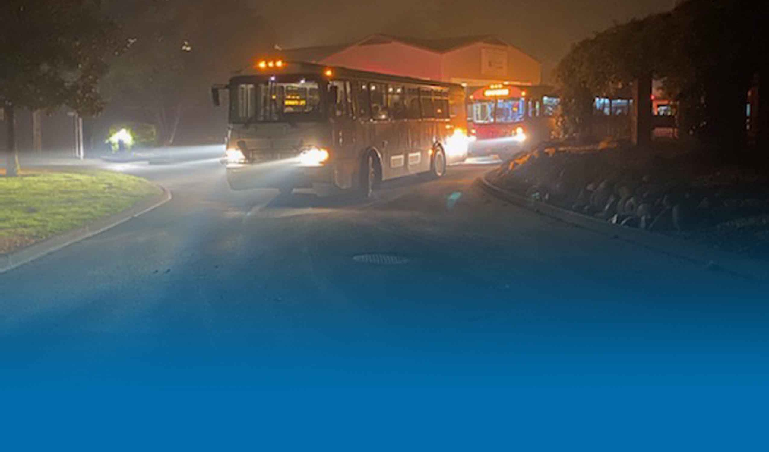Regional Bus Aiding in Evacuation